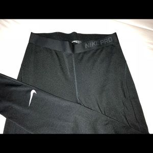 Nike Pro Black Fleece Leggings